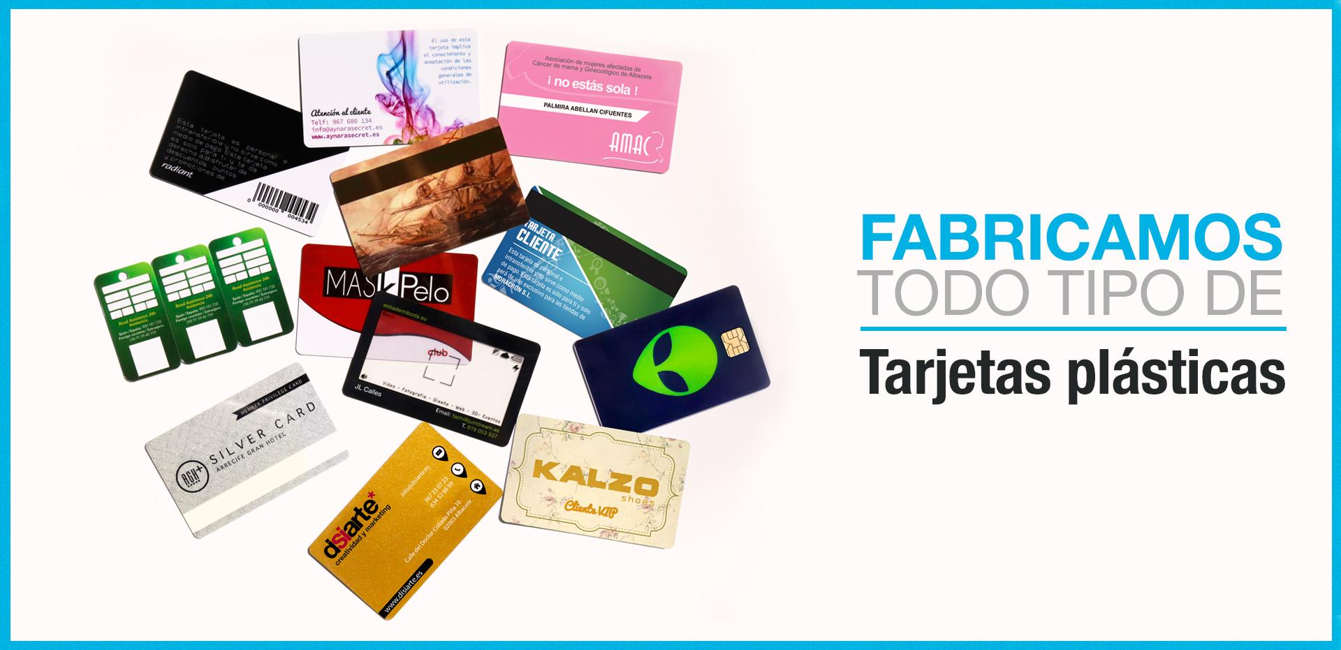 Impresión de todo tipo de tarjetas plásticas y tarjetas PVC
