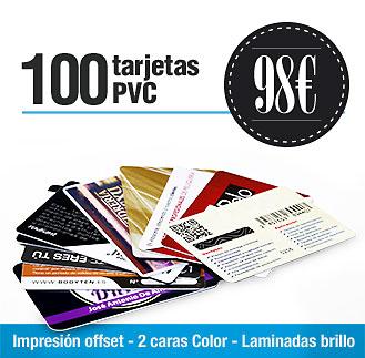 Precio 100 tarjetas PVC Precios 100 tarjetas plásticas