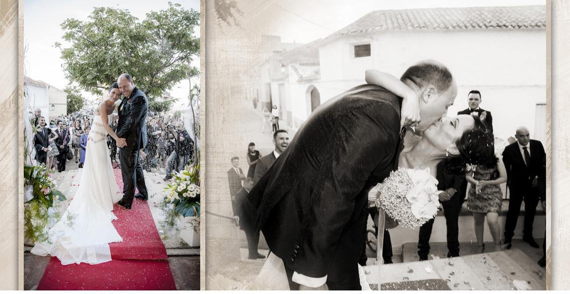 Fotografías Boda Albacete Juan Manuel y Noemí, fotografías boda salida de la iglesia