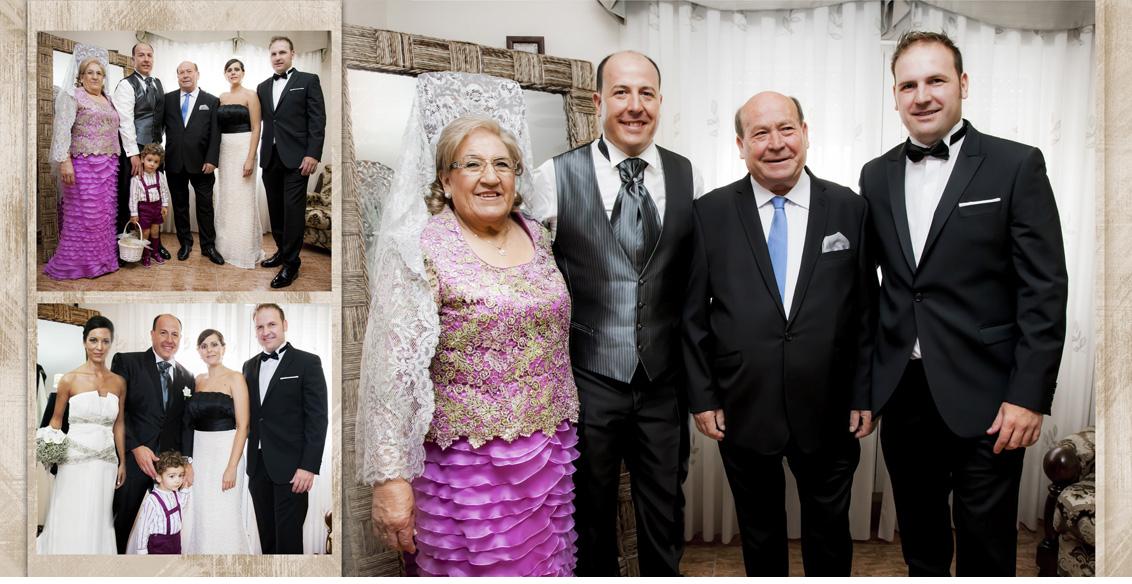 Fotografías Boda Albacete Juan Manuel y Noemí, collage fotografias boda familia novia