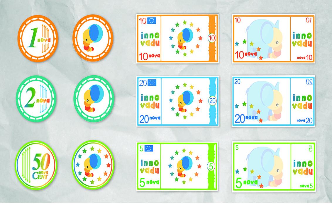 Diseño de Monedas y billetes corporativos Innovadu