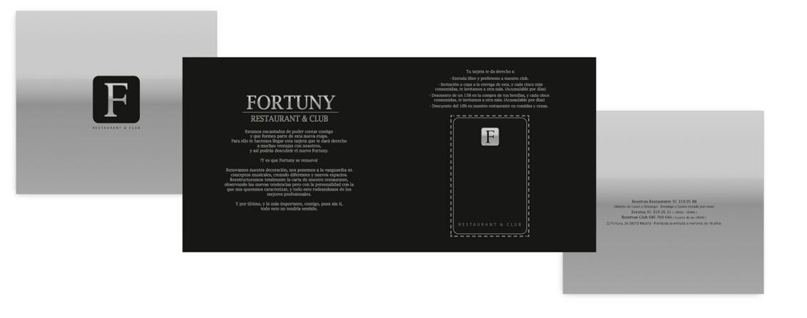 Packaging tarjetas PVC Impresión de tarjetas PVC, Tarjetas PVC tarjetas fidelización Fortuny Restaurant y Club