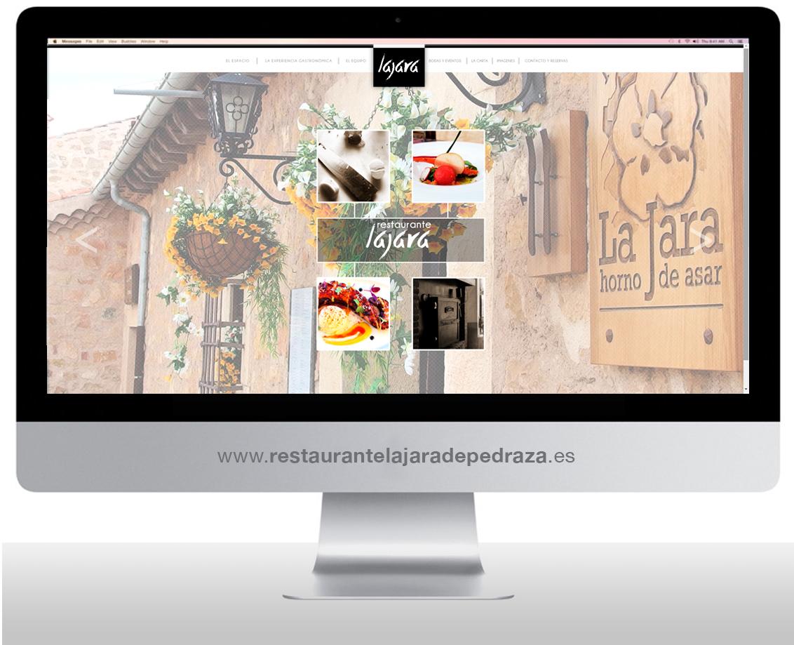 Diseño y programación página web Restaurante La Jara de Pedraza
