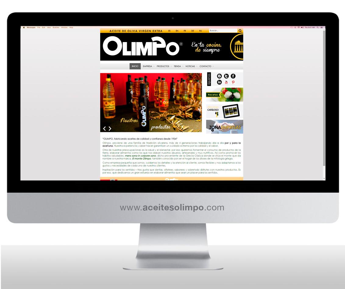 Diseño web albacete, diseño gráfico y programación página web Olimpo