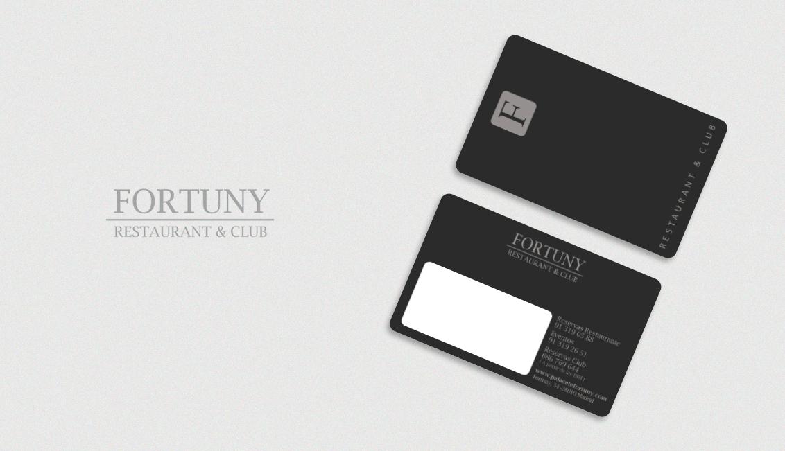 Impresión de tarjetas PVC, Tarjetas PVC tarjetas fidelización Fortuny Restaurant y Club