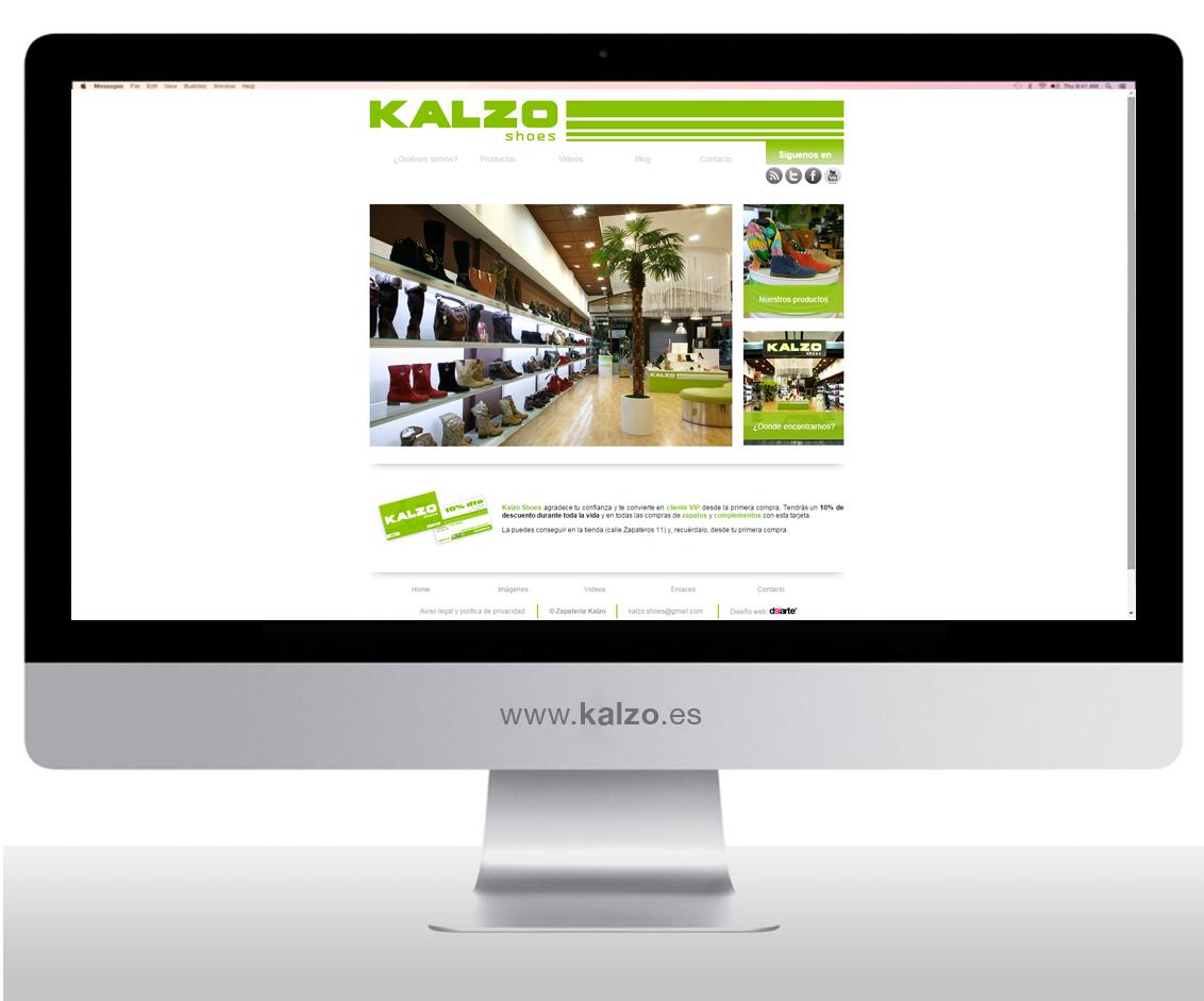 Diseño web, Diseño web Albacete, diseño y programación página web de zapaterías Kalzo