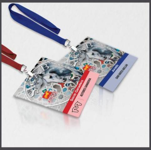Tarjetas de identificación, tarjetas de acreditación , tarjetas acreditativas, tarjetas plásticas para acreditación
